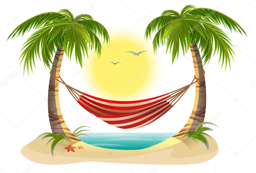 palm tree hammock clip art