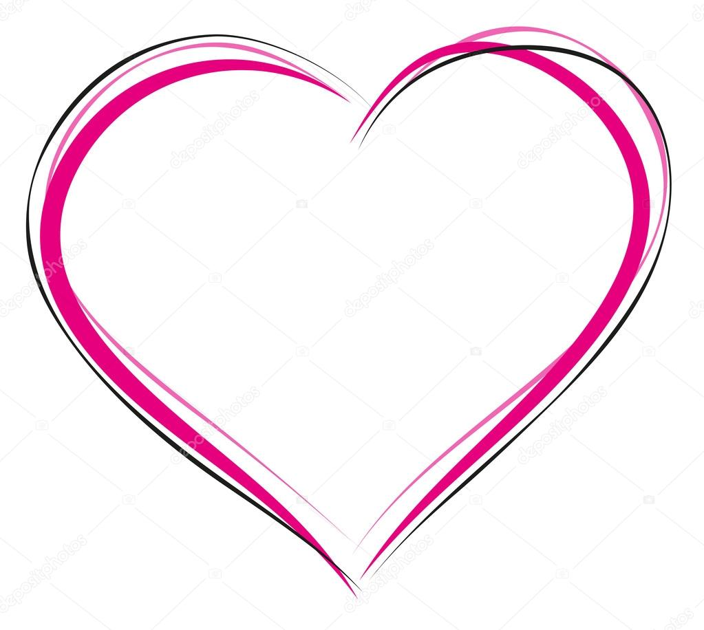 heart symbol of love sign of heart outline heart for greeting card rh depositphotos com outline heart symbol instagram red outline heart symbol