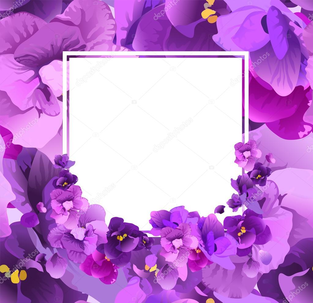 Рамка для открытки фиолетовая, спасибо
