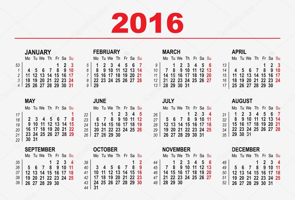 Best Template Calendario 2016 HD Wallpaper - http://yellowpics.top