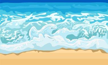 Sea wave and sand beach
