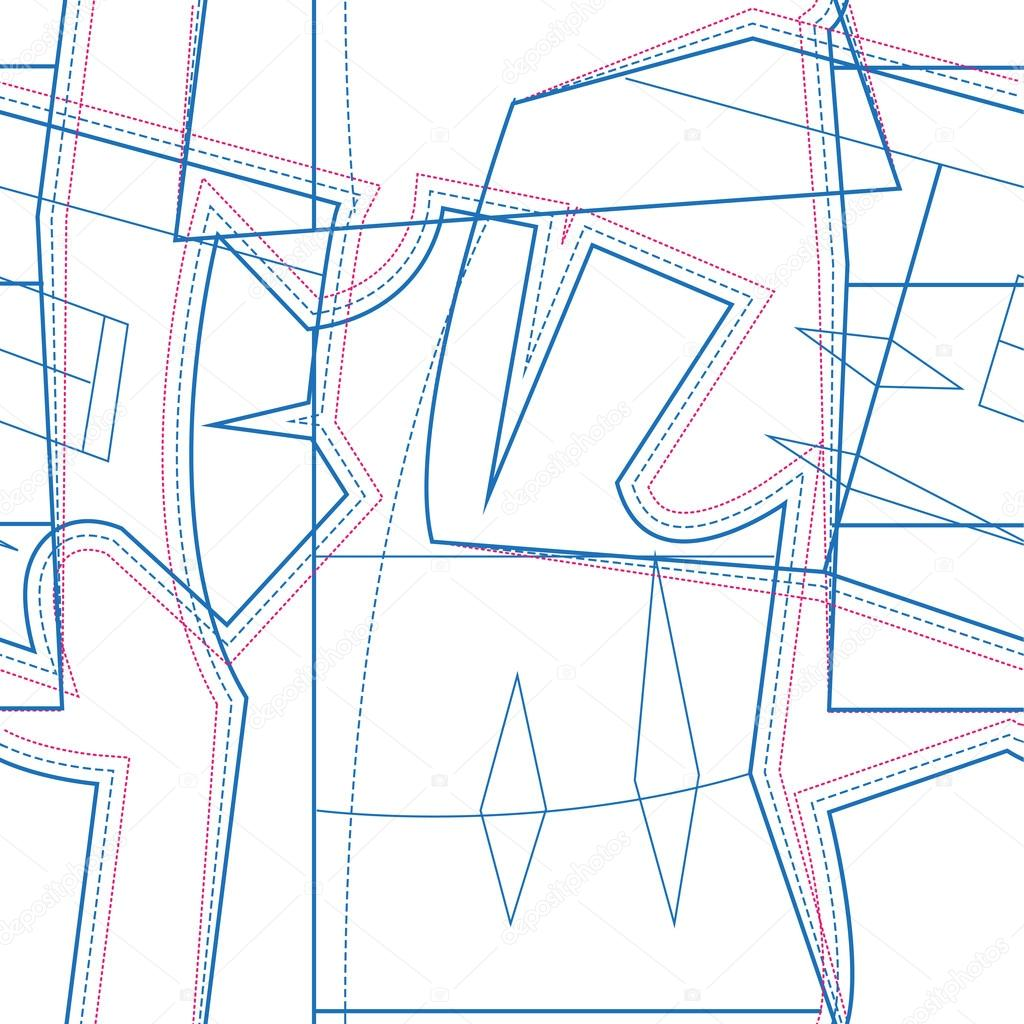 Schnittmuster. Nahtlose Textur — Stockvektor © orensila #80065926