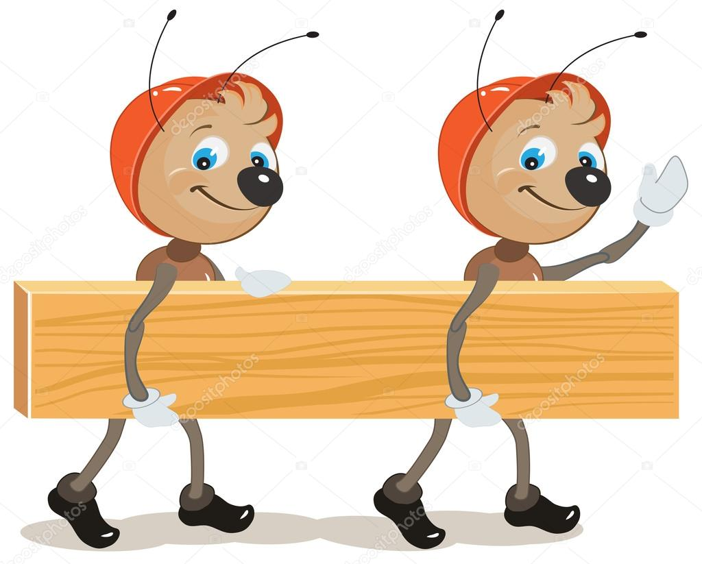 Ant builder. Two ants are board