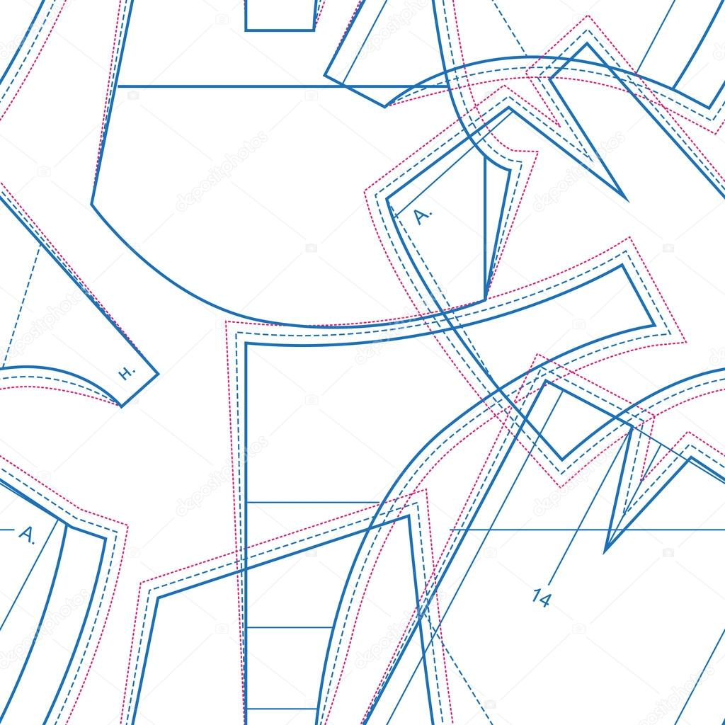 Corte y confección. Confección de patrón de circuito. Costura de ...