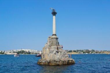 Monument to the scuttled ships. Sevastopol, Crimea