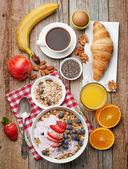 Zdravá snídaně ingredience