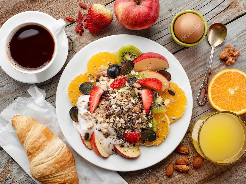 Ingredientes Del Desayuno Saludable