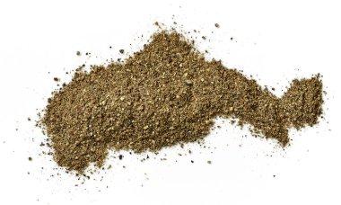 heap of ground black pepper