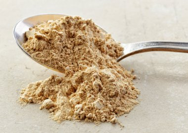 spoon of maca powder