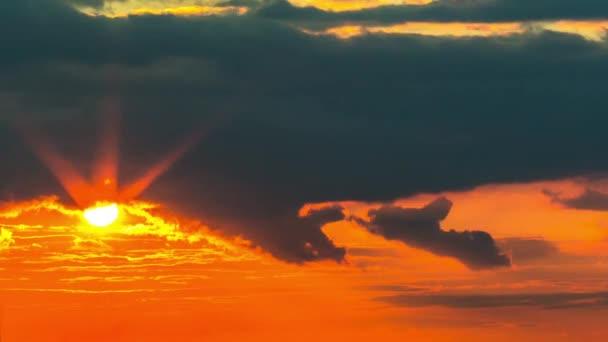ciel coucher de soleil, time-lapse