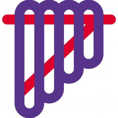 Siku with flute like shape combination set icon