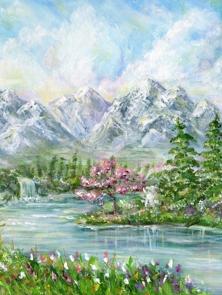Spring Mountain Landscape Stock Photo C Elenita 107660226
