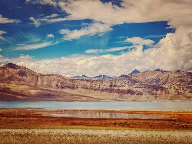 """Картина, постер, плакат, фотообои """"соленое озеро цо кар в гималаях. ладакх, индия постеры печать картины фото фотографии"""", артикул 109415774"""