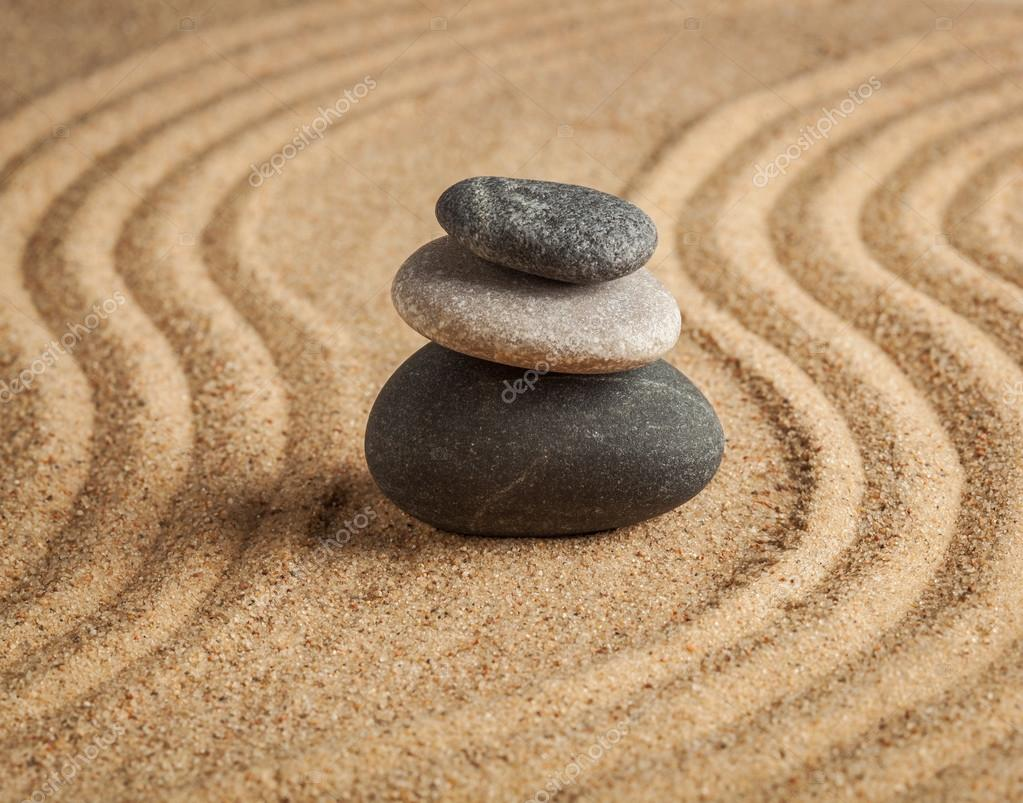 Japanese Zen stone garden — Stock Photo © DmitryRukhlenko #63544679