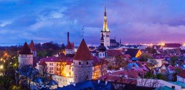 Tallinn Medieval Old Town panorama, Estonia