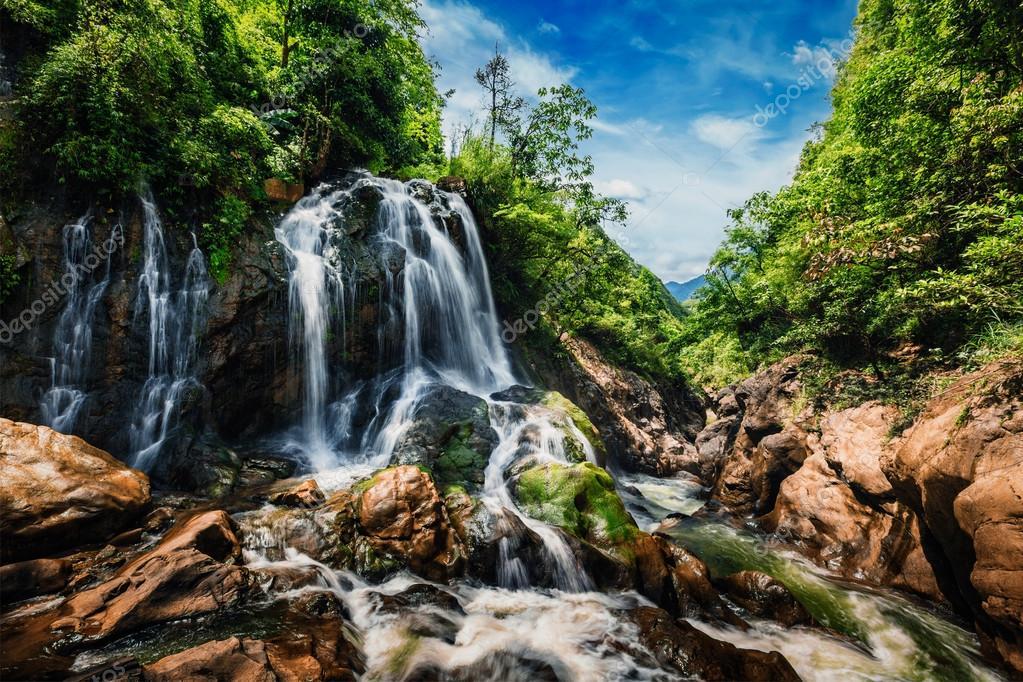 Cat-Cat waterfall, Vietnam