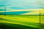 Photo Moravian summer rolling landcsape