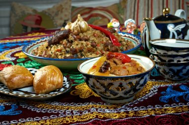 food set  Central Asian cuisine