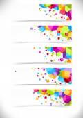 Kolekce karet barevné kostky