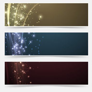 Shimmering headers collection