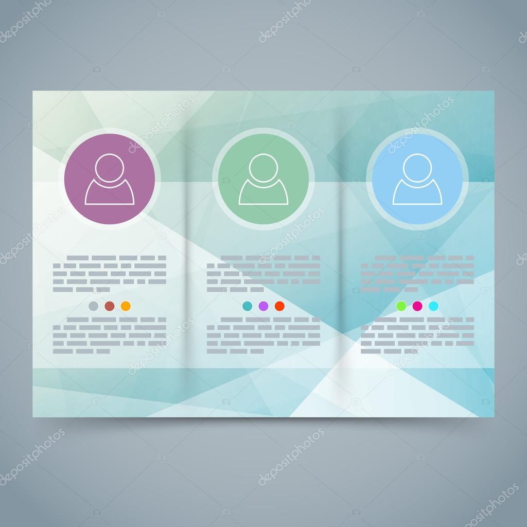 Dreifachfaltung moderne Broschüre Broschüre Vorlage — Stockvektor ...