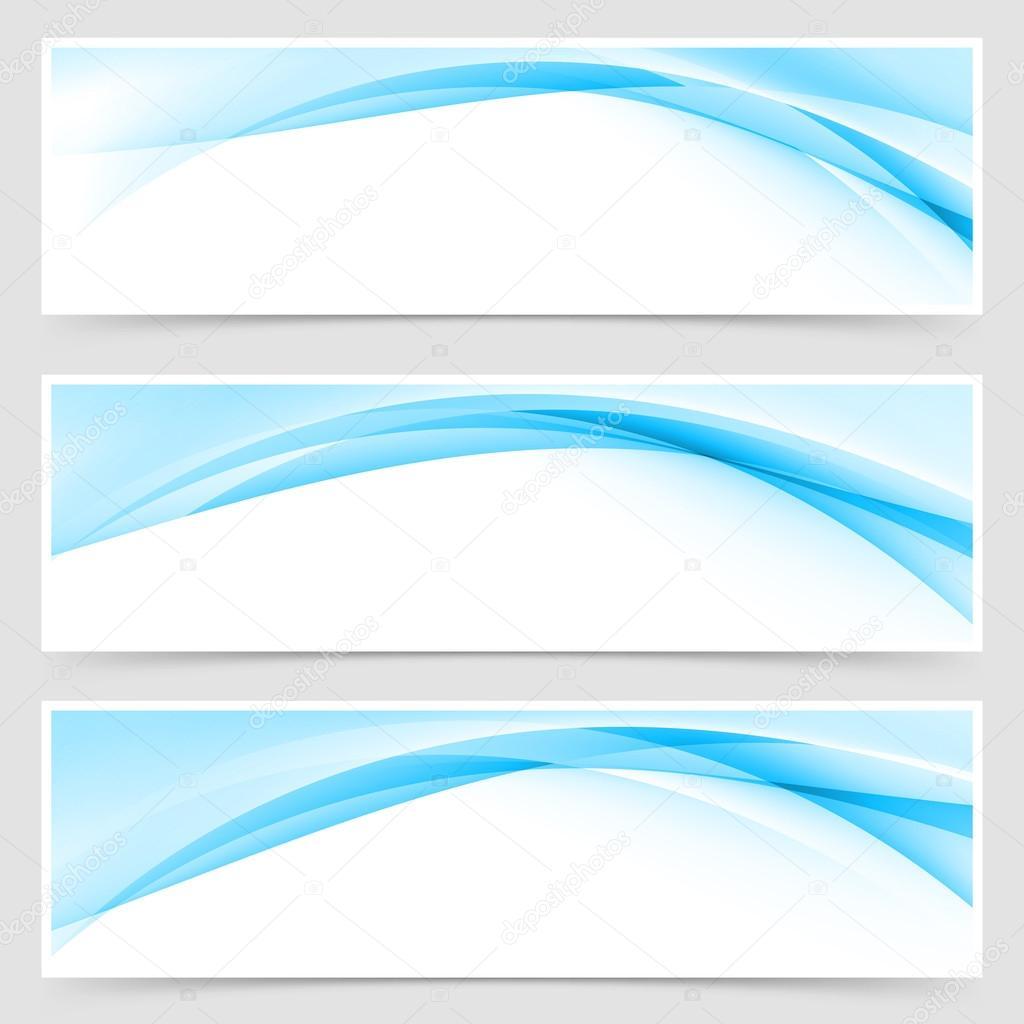 blue wave border template header stock vector phyzick 84151262