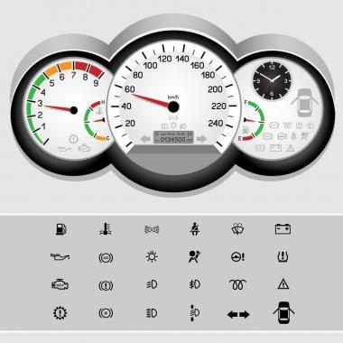 car speedometer panel