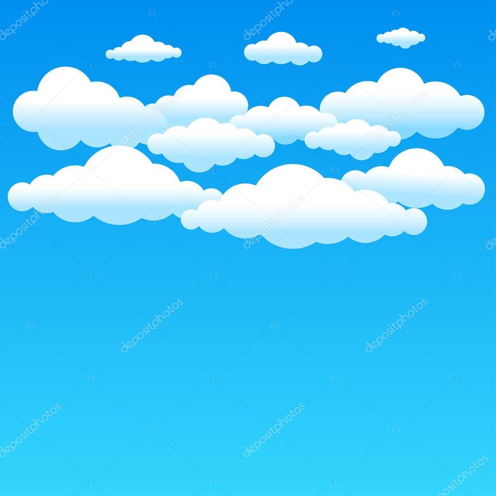 Fondo Cielo Dibujo Nubes Azules De Dibujos Animados Vector De