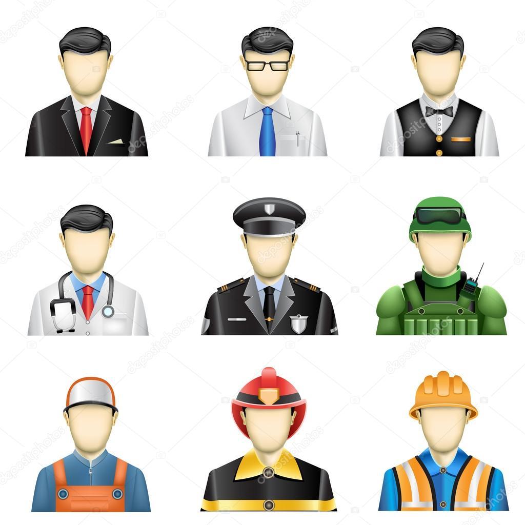 Male job icons