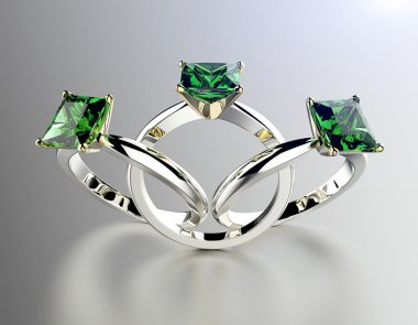 Engagement Ring with Emerald.