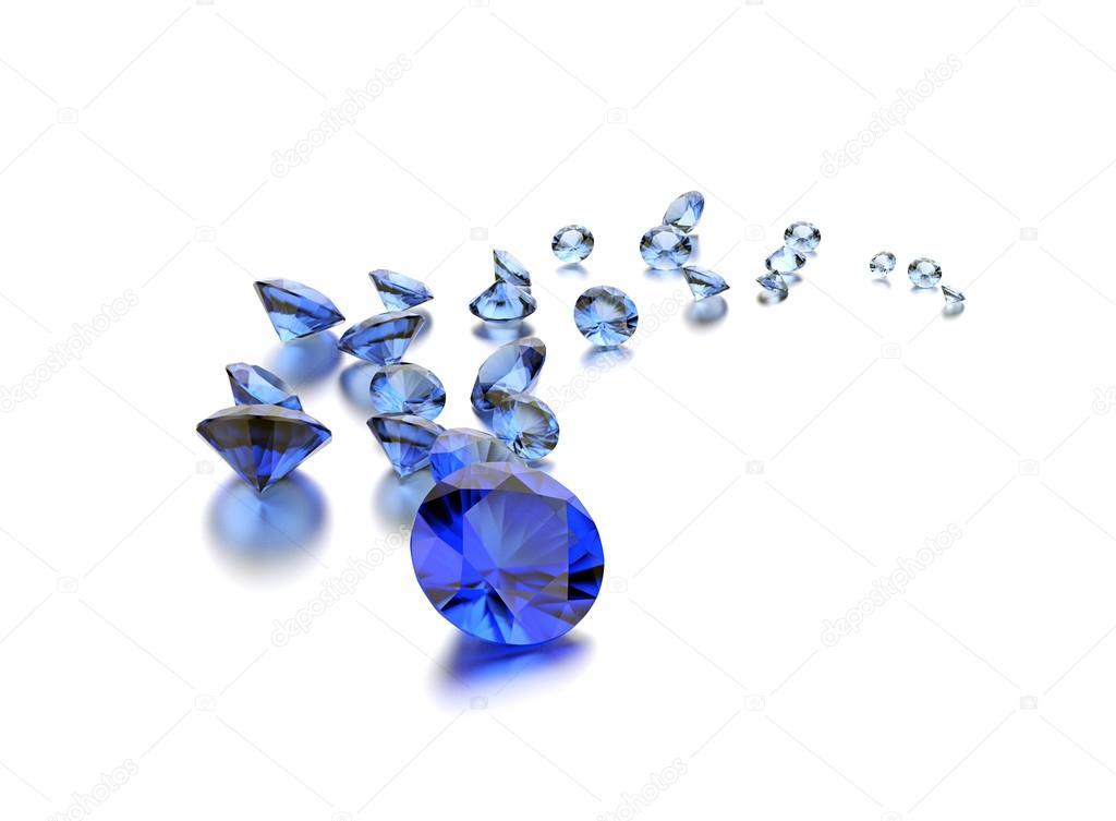 Close-up of luxury sapphire gemstones on white background — Fotó szerzőtől  Rozaliya bc5c12bcbe