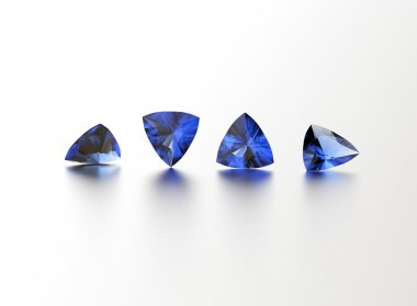 Four different shape gemstones