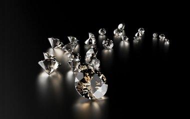 scattered luxury diamonds