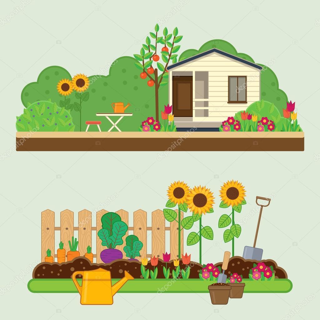 ガーデニング セット田園風景花ガーデンコテージガーデン