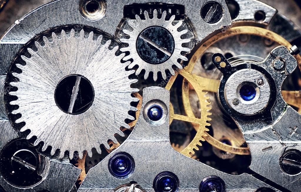 Old clock mechanism.
