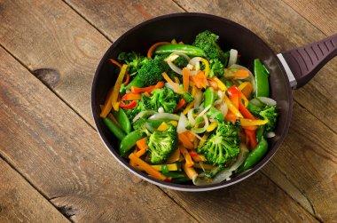 Vegetable stir fry. Healthy food.