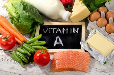 vitamin A Products with blackboard