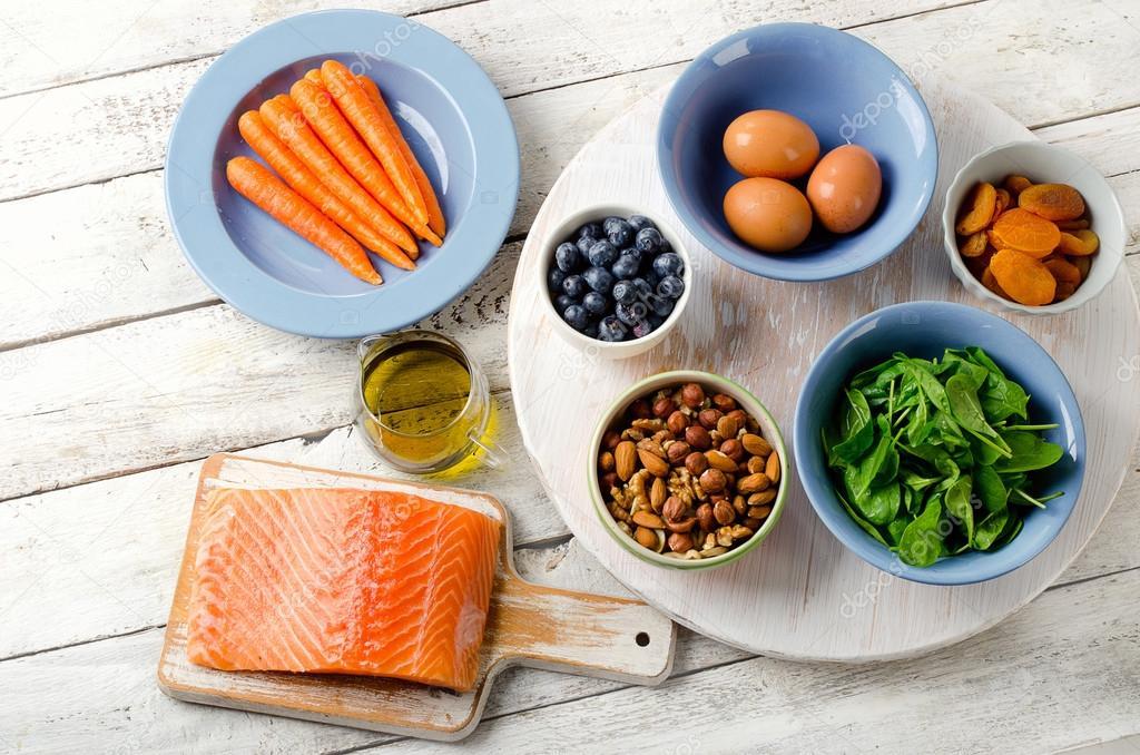 alimenti per la salute degli occhi — foto stock © bit245 #119319042
