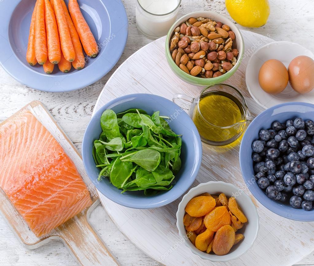 migliori alimenti per la salute degli occhi — foto stock © bit245