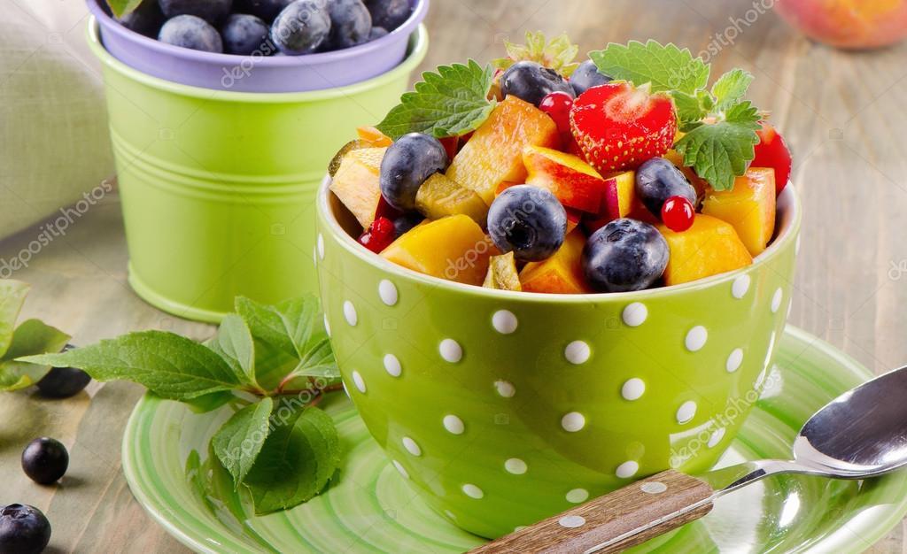 Fresh healthy fruit salad