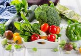 čerstvé zelené biozeleniny