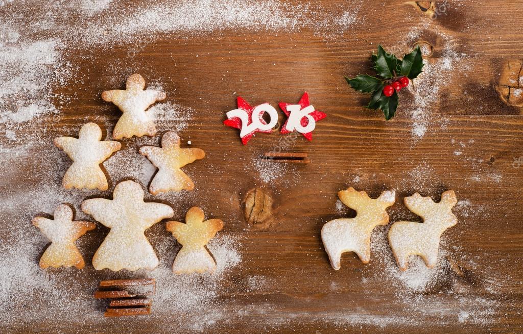 Christmas Tree Of Homemade Angel Cookies Stock Photo C Bit245