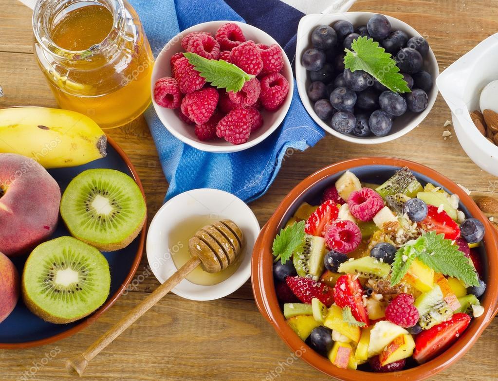 Healthy homemade fruit salad