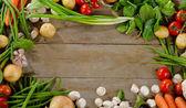 Organic vegetables frame