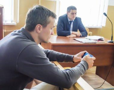 Igor Lutsenko in the courtroom