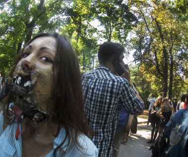 Zombie parade in kyiv