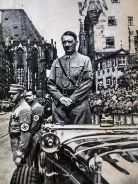 Adolf Hitler during the Nazy Party Congress