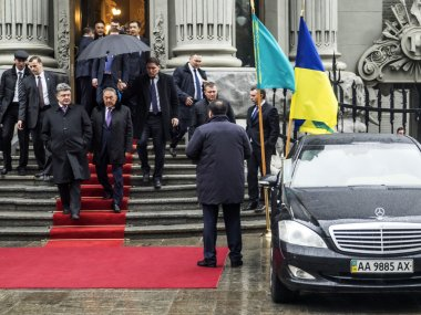 Poroshenko and Nazarbayev during working visit