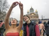 Feier der Epiphanie in Kiew