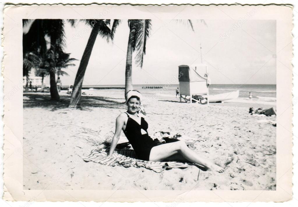 Antique Black And White Photo Stock Editorial Photo
